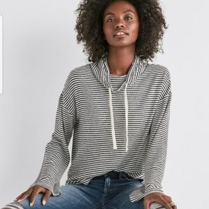 NWOT Lucky brand funnel neck striped shirt